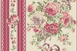RURU Bouquet RU2200-12E Rose Border Stripe by Quilt Gate EOB