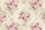 RURU Bouquet RU2200-13A Ecru Ribbons and Roses by Quilt Gate
