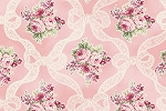 RURU Bouquet RU2200-13B Pink Ribbons and Roses by Quilt Gate EOB