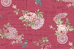 RURU Bouquet RU2200-14E Rose Floral Script by Quilt Gate