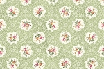 RURU Bouquet RU2200-15C Green Medallions by Quilt Gate