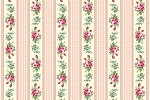 RURU Bouquet RU2200-16B Pink Floral Stripe by Quilt Gate