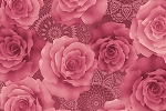 RURU Bouquet RU2200-19E Rose Tonal Roses by Quilt Gate