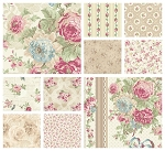 RURU Bouquet 10 Fat Quarter Set in Ecru by Quilt Gate