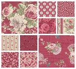 RURU Bouquet 10 Fat Quarter Set in Rose by Quilt Gate