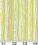 Safari Sweet Y0774-19 Lime Green Stripe by Clothworks  FQ - EOB