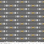 Four Corners SC4872 Gray Stripe by Simple Simon for Riley Blake