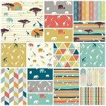 Serengeti Organic 17 Fat Quarter Set by Jay-Cyn for Birch
