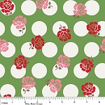 Sew Cherry C2521 Green Sew Rose Dots by Bee in my Bonnet -Riley Blake