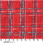 Cosmos CJ5583 Red Skinny Plaid by Michael Miller EOB