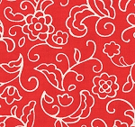 Sophie 32504-12 Tomato Soup Leafy Swirl by Chez Moi for Moda