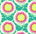 Soul Blossoms Voile VOAB005 Spearmint Buttercups by Amy Butler