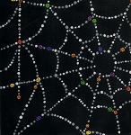 Sparkly Spider Web 7781-C Black by Alexander Henry