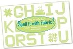 Spell It With Fabric Booklet by Moda Bakeshop
