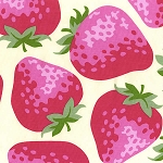 Strawberries 4170-70B Pink by Kokka of Japan