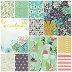 Succulence 10 Fat Quarter Set by Bonnie Christine for Art Gallery