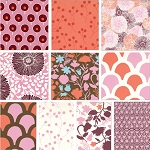 Sugar Pop 8 Fat Quarter Set in Pink/Orange by Moda
