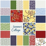 Summer Cottage 23 Fat Quarter Set by Gerri Robinson for Red Rooster