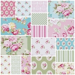 Sunshine Rose 17 Fat Quarter Set by Tanya Whelan for Free Spirit