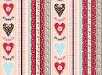 Holly Hobbie Sweethearts 20963 Multi Stripe Quilting Treasures EOB FQ