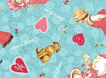 Holly Hobbie Sweethearts 20964 by Quilting Treasures EOB FQ