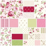 Symphony Rose 15 Fat Quarter Set by Red Rooster
