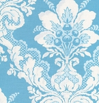 Tea Cakes VM37 Blue Eyes Faded Wallpaper by Verna Mosquera