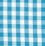 Tea Cakes VM43 Cornflower Checkered Napkin by Verna Mosquera