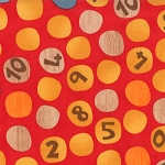 Ten Little Things 30503-11 Red Counting Dots by Jenn Ski for Moda