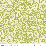 The Sweetest Thing C2982 Green Floral by Zoe Pearn for Riley Blake