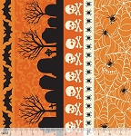 Spooktacular 101.107.15.1 Orange Spooky Stripe by Blend