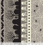 Spooktacular 101.107.15.2 Grey Spooky Stripe by Blend