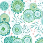 Coral Queen of the Sea 20513-11 White Underwater Garden by Moda