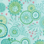 Coral Queen of the Sea 20513-12 Aqua Underwater Garden by Moda