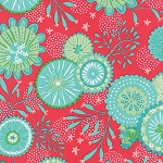 Coral Queen of the Sea 20513-17 Raspberry Underwater Garden by Moda