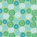 Coral Queen of the Sea 20514-16 Green Coral Kaleidoscope by Moda