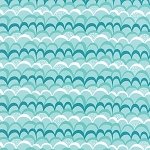 Coral Queen of the Sea 20515-12 Aqua Waves Galore by Moda
