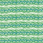 Coral Queen of the Sea 20515-16 Green Waves Galore by Moda