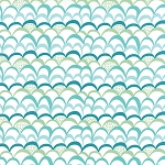Coral Queen of the Sea 20515-21 White Ocean Waves Galore by Moda