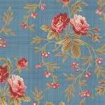 Bed of Roses 26256 Blue Floral Vine by Gerri Robinson for Red Rooster