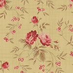 Bed of Roses 26256 Tan Floral Vine by Gerri Robinson for Red Rooster