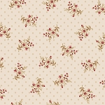 Bed of Roses 26258 Ivory Floral Dot by Gerri Robinson for Red Rooster