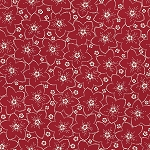 Bed of Roses 26259 Red Packed Floral by Gerri Robinson for Red Rooster
