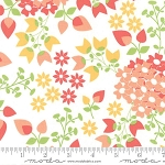 Sundrops 29010-11 White Bouquet by Corey Yoder for Moda