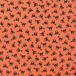 Spooky Delights 2902-11 Pumpkin Scaredy Cats by Moda