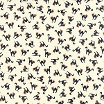 Spooky Delights 2902-13 Ivory Scaredy Cats by Moda
