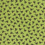 Spooky Delight 2902-15 Citron Scaredy Cats by Moda