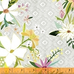 Blush & Blooms 41646-1 Grey Floral by Windham