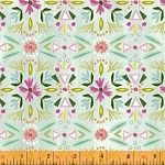 Blush & Blooms 41649-6 Aqua Floral Stripe by Windham