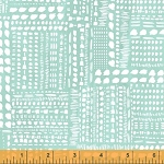 Blush & Blooms 41651-6 Aqua Dotted Patchwork by Windham